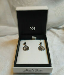 Nicole Barr Designs Sapphire And Diamond Sterling Post Earrings New W Box And Tags