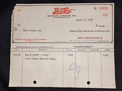 1958 Pepsi Cola Bottling Company Check Princeton West Virginia