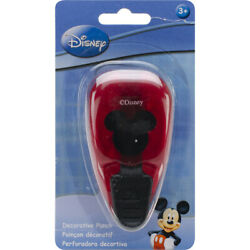 Ek Success Disney Mickey Mouse Head Red Whale Style Paper Punch New