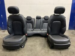Maserati Ghibli Front And Rear Black Leather Seats Setup Complete Used