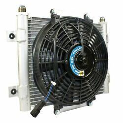 Bd Diesel Xtrude Trans Oil Cooler For Universal With Fan -10 Jic Male Connection