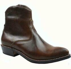 Us Sz 5-111 Real Leather Zip Cowboy Ankle Boots Casual Dress Mens Shoes Booties