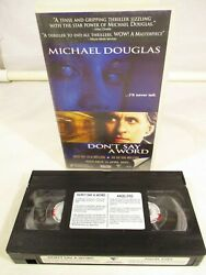 Donand039t Say A Word And Angel Eyes Back 2 Back Vhs Ma15+ Roadshow 2002 Pal