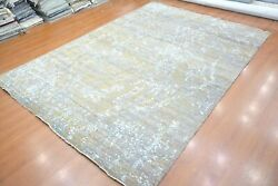 10and039 X 14and039 Rug   Hand Knotted Hand-made Zero Pile Wool Gray-brown Area Rug