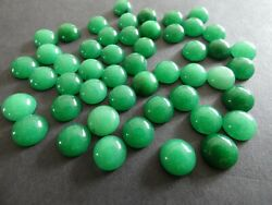 Natural Green Jade Round Loose 3mm-20mm Gemstone Cabochon For Jewelry Making