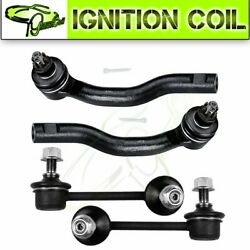 4 For Mazda Cx-7 Suspension Front Outside Tie Rod End And Sway Bar End Link Kit