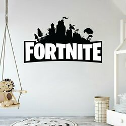 Fortnite Wall Decal - For House Decoration - Game Logo - Removable And Reusable