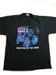 Vintage Rare 1983 Kiss Creatures Of The Night Tour T-shirt Size Us Xl