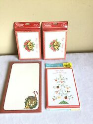 Vtg Paper Epherma Junk Drawer Lot New Sealed Christmas Thank You Cards Notepad