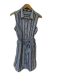 Toad amp; Co Striped Button Front Dress size Large For Womens $10.00