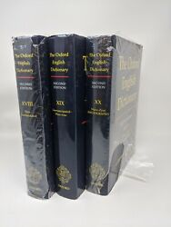 Oxford English Dictionary Edition Volumes 18,19 And 20 - Second Edition- Like New