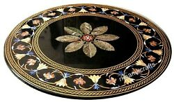 48 Inches Marble Dining Table Top Stone Reception Table Ancient Art From India