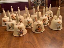 Lot Of 15 Hummel Goebel Annual Bells Complete Collection 1978–1992 W/boxes