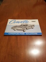 1961 Corvette Factory Original 2nd Edition Owners Manual W News Card