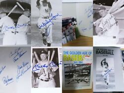 12 Autograph Yankee Greats Signed Book - 2 Mickey Mantles - Whitey Ford And More
