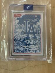 Topps Project 2020 Mister Cartoon La Dodgers World Series Ap 32/58 Card In Hand