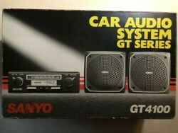 Vintage Sanyo Gt4100 Car Stereo Amfm Cassette Player Speakers Made In Japan Rare