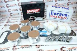 Cp 100.50mm Pistons + Rods + Gasket + Exhaust And Intake Valves For Toyota 1fz-fe