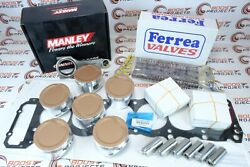 Cp Pistons Rods Gasket Valves Springs Retainers Locators Kit For Toyota 1fz-fe