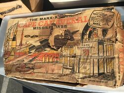 Vintage Marx Atomic Cape Canaveral Missile Base Play Set With Box - Many Pieces