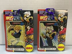 Dragon Ball Gt P.p Card Part.3 34 Sheets/cover 1996 Carddass New Lot Of 2 Amada