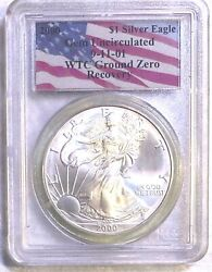 2000 1 Silver Eagle Pcgs Wtc Recovery Gem Uncirculated