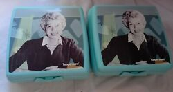 Tupperware Sandwich Keeper Lunch Container 8203a Blue