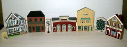 Vtg. Cats Meow 8 Village Collectibles Downtown Office Buildings Etc.