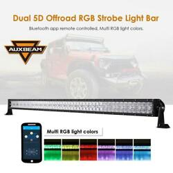 Auxbeam 52inch 300w Rgb Led Light Bar 5d Lens Multicolor Offroad Truck Driving
