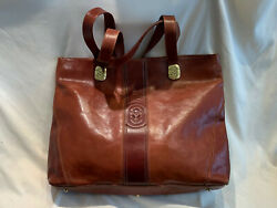 Vintage MARINO ORLANDI Genuine Leather Satchel PurseTote Shoulder Bag EUC $65.99