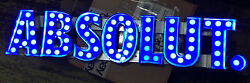 Absolute Vodka Led Metal Box Letter Lighted Sign 36 X 8 Marquee