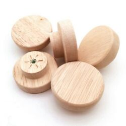 Wooden Knob With Screws Wood Round Pull Knobs For Shoe Box Cabinet Door