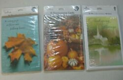 Thanksgiving Hallmark 8 Greeting Cards And Envelopes New Vintage Lot Of 3 D-3