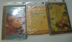 Thanksgiving Hallmark 8 Greeting Cards And Envelopes New Vintage Lot Of 3 D-7