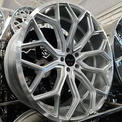 24x10 Gianelle 5x120 Silver Machined Wheel And Tire Package