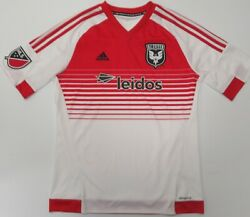 Adidas Dc United Soccer Jersey Youth Xl Climacool Mls White Red Leidos