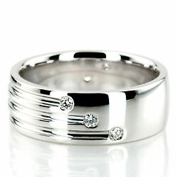 14k White Gold Mens Ring Natural 0.35 Ct Pure Diamond Band Size All