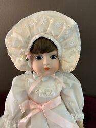 """Vintage 1984 Gorham Doll """"lisa"""" Petticoats And Lace Anniversary Porcelain Doll"""