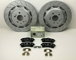 Mercedes S63 And S65 Amg Rear Brake Pads And Rotors Set - Genuine