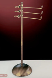 Floor Lamp Low Bathroom Accessories Brass Towel Rack Tablecloth Made In Italy