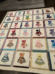 Amazingly Detailed Well Executed Sunbonnet Sue Quilt