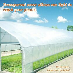 Greenhouse Cover 10/12 X25ft Clear Plastic Film 6mil Thick Polyethylene Covering