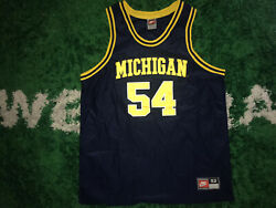 Nike Authentic Michigan Wolverines Robert Tractor Traylor Jersey 52 Vintage 90s
