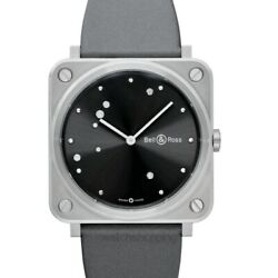 Bell And Ross Instruments Brs-eru-st/sca Grey Dial Unisex Watch Genuine Freesandh