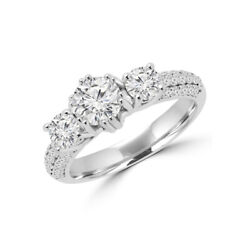 1.64 Ct Real Diamond Engagement Ring For Women Solid 950 Platinum Rings 5 6 7 8