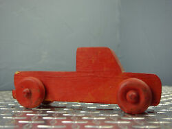 Vintage Red Wooden Toy Truck