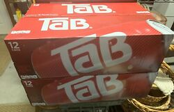 Tab Soda Lot Of 4 Tab Cola 12-packs 48 Cans