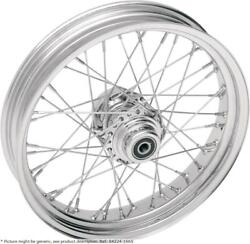 Roue Avant 21x2.15 Simple / Double Disque 40 Branches Chrome - Harley Davidso...