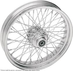 Roue Arriandegravere 18x3.5 60 Rayons Chrome - Harley Davidson Glide - Drag Specialties