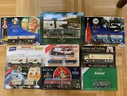 Old German Beer Truck Model Gift Lot Of 9 Limited Editions Ho Scale Layout Train